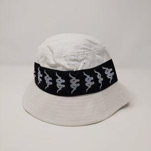 Kappa Mens 222 Banda Bucket Hat White S/M Logo